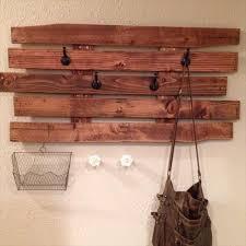 Wood Coat Rack Diy Simple DIY Pallet Coat Rack Pallets Designs 78
