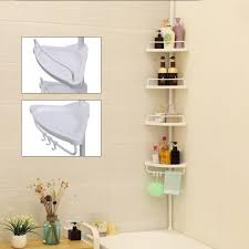 Telescopic Shower Corner Shelves SONGMICS 100100 Cm 100 Tier Adjustable Bathroom Corner Shelf Shower 68