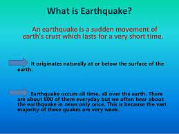 Earthquake, any sudden shaking of the ground caused by the passage of seismic waves through earth's rocks. Causes Effects And Precautions Against Earthquake