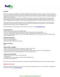 Fedex Sort Observation Excellent Fedex Ground Operations Manager Resume College Essay For