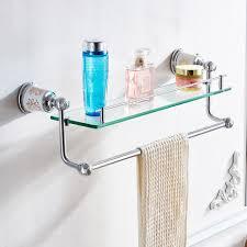 China <b>FLG Bathroom</b> Fitting Chrome <b>Glass</b> Double Layer <b>Shelf Wall</b> ...