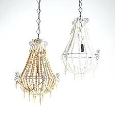 small beaded chandelier small white beaded chandelier small wooden beaded chandelier small wood bead chandelier world market