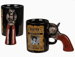 Whether you're into guns or just cool stuff shaped like guns, you gotta pull the trigger on this purchase. Wanted Poster 3d Gun Handle Coffee Mug