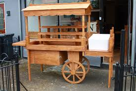 details about display cart market stall wooden retail display stands vintage