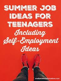 Summer Jobs Summer Job Ideas For Teenagers Including Self Employment