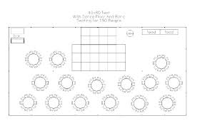 Tent Seating Chart Table Seating Capacity Guest Seating Chart Template Table