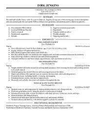 Babysitting Resume Interesting Resume Babysitter Resume Babysitter Examples Resume Babysitting
