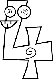 Small Picture Number 4 Coloring Page GetColoringPagescom