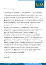 Executive Cover Letters Sample Of Cover Letter For Executive Director Assistant