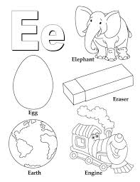 Small Picture My A to Z Coloring Book Letter E coloring page Download Free My