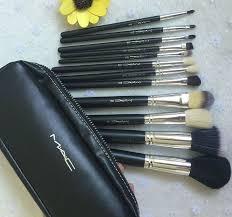 details about mac makeup brush set zipper bag 1