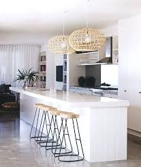 coastal design furniture. Modern, Coastal Kitchen With Metal Base, Wood Topped Bar Stools And A Pair Of Design Furniture