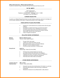 Receptionist Job Resume Objective Sample Resume For Receptionist Luxury Medical Job Image 80