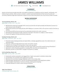 detail oriented examples bank teller resume sample resumelift com