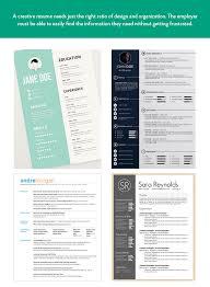 Creative Resume Amazing Standard Resume Vs Creative Resume Glantz Design