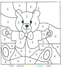 Number Coloring Sheets For Preschoolers Page Printable Color By