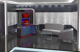 tv studio furniture. 3d Virtual TV Studio News Set 16 Model 3ds Max Dxf Fbx Obj Tv Furniture