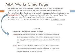mla formatting and citation ppt video online  mla works cited page