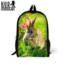 Backpack Cute Rabbit 17 Inch School Bags Boys Girls Large Capacity ...