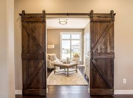 this application is great for areas where barn doors are desired but there isn t adequate room on either side of the opening for the door to