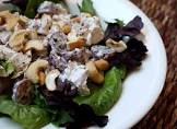 chicken  cashew  and grape salad