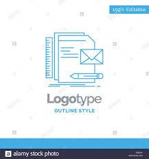 Logo Design Concept Presentation Blue Logo Design For Brand Company Identity Letter
