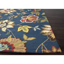 area rugs shaped like flowers flower uk simply shabby chic braided rug new oriental overdyed blue