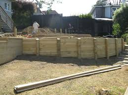 curved wooden retaining walls google