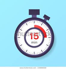 Start 15 Minute Timer 15 Minutes Timer Stopwatch Icon Flat Signs Symbols