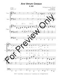 ave verum corpus sheet music ave verum corpus tenor baritone duet j w pepper sheet music