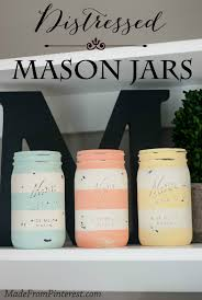 Decorated Jars Craft Distressed Mason Jars TGIF This Grandma is Fun 26