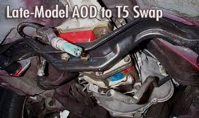 mustang aod to t5 swap transmission swap auto to manual