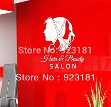 Small Picture Ome Decor Wall Sticker Unisex Hair Scissors Salon Business Wall