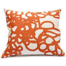 daisy pillow in orange  area  horne