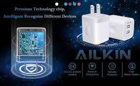 USB Wall Charger, Charger Adapter, Ailkin 2-Pack 2.1 ... - Amazon.com