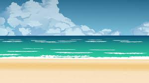 wave sea beach background cartoon 2d animation background no copyright hd