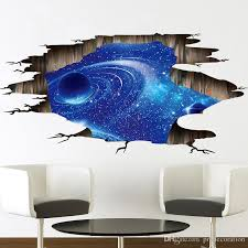new fashion outer space planets 3d wall stickers cosmic galaxy wall decals for kids room baby bedroom ceiling floor decorations designer wall stickers