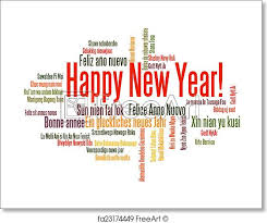 Free Art Print Of Happy New Year Word Cloud Happy New Year In