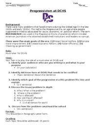 Progressive Era Muckrakers Worksheets Teaching Resources Tpt