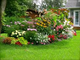 Backyard Flower Garden Designs Backyard Flower Garden Green Grass Area Beautiful Garden