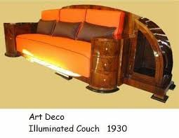 art moderne furniture. art deco sofa furniture dream vintage design style streamline moderne nouveau