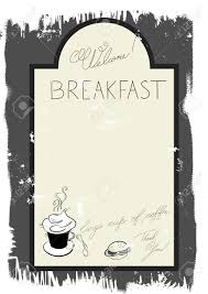 breakfast menu template template for breakfast menu royalty free cliparts vectors and