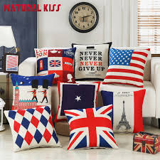 aliexpress com buy 45x45cm home decor cotton linen plush london