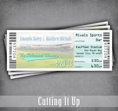 Invitation Ticket Template Delectable Baseball Rehearsal Dinner Invitation Tickets Sports Theme Wedding