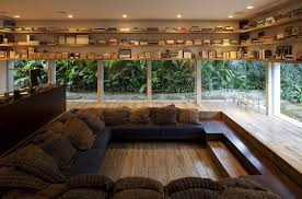 #1 Lowered Reading Room With Glass Walls