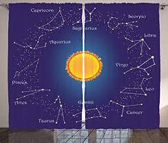 Star Panel Chart Amazon Com Lunarable Astrology Curtains Celestial Star