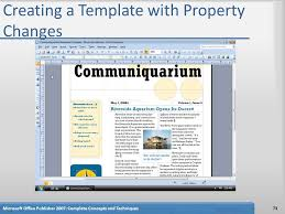 Microsoft Office Publisher 2007 Chapter 2 Designing A