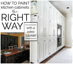kitchen cabinets paintVideo Tutorial How To Paint Kitchen Cabinets  The Chronicles of Home