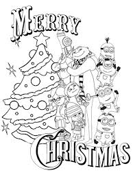 Small Picture Despicable Me Christmas Coloring Page H M Coloring Pages