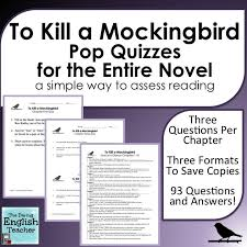 best to kill a mockingbird images teaching reading quizzes for every single chapter of harper lee s novel to kill a mockingbird